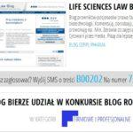 Blog DZP w konkursie na najlepszy blog 2012 roku