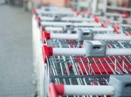stack of shopping carts