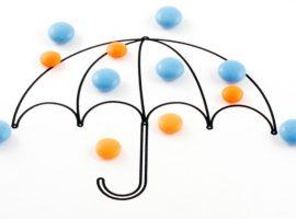 Umbrella and pills