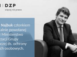 Piotr Najbuk członkiem Grupy Roboczej ds. ochrony danych osobowych
