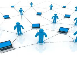 people worldwide computer connection 3d illustration isolated on white background