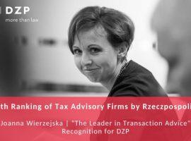 Sukces Joanny Wierzejskiej i Praktyki Podatkowej w XIV Rankingu Firm Doradztwa Podatkowego Rzeczpospolitej