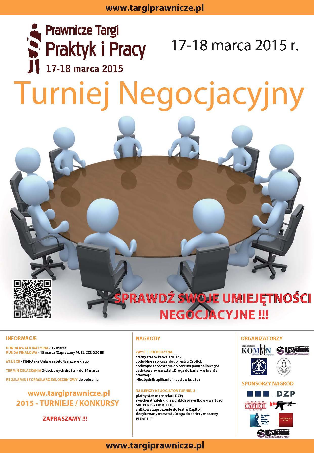 2015 plakat Turniej Negocjacyjny