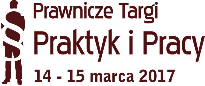 2017 logo prawnicze targi praktyk i pracy krzywe white
