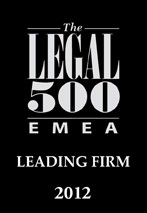 legal500emea recommended 2012